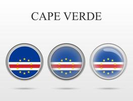 Flag of Cape Verde in the form of a circle vector