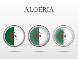 Flag of Algeria in the form of a circle vector