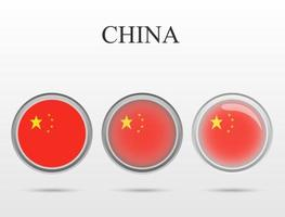 Chinese state flag in the form of a circle vector