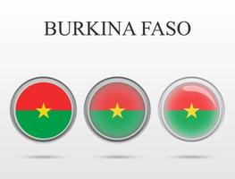 Flag of Burkina Faso in the form of a circle vector