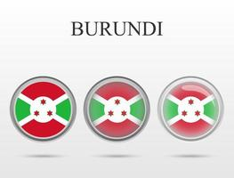 Flag of Burundi in the form of a circle vector