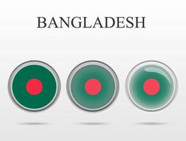 Flag of Bangladesh in the form of a circle vector