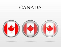 Flag of Canada in the form of a circle vector