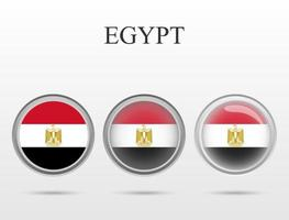 Flag of Egypt country in the form of a circle vector