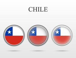 Flag of Chile in the form of a circle vector