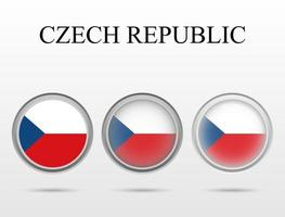 Flag of Czech Republic in the form of a circle vector