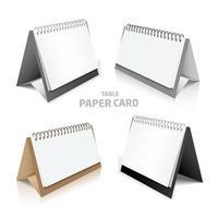 Blank calendar design isolated on white 3d model set in color vector