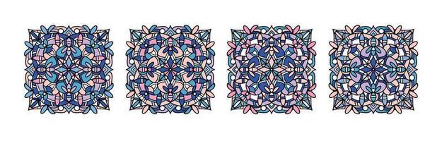 Mandalas collection. Round Ornament Pattern. Vintage decorative elements. Hand drawn background. Islam, Arabic, Indian, ottoman motifs. vector