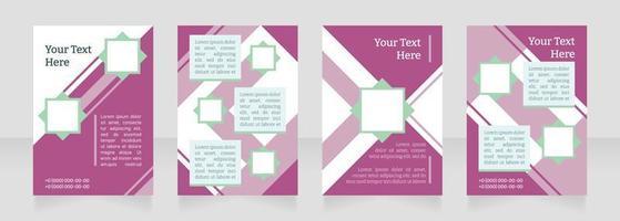 Diseño de diseño de folleto en blanco de publicidad comercial. hablando con los clientes. plantilla de cartel vertical con espacio de copia vacío para el texto. Recopilación de informes corporativos prefabricados. páginas de papel de volante editables vector