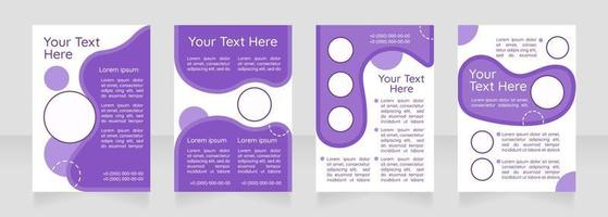 Internet marketing blank brochure layout design. Building business online. Vertical poster template set with empty copy space for text. Premade corporate reports collection. Editable flyer paper pages vector
