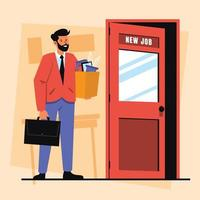 New Career Path for Office Worker vector