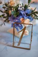 elegant wedding decorations made of natural flowers photo