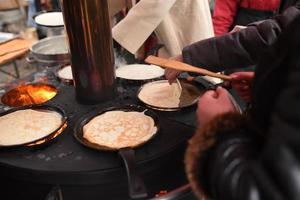 cocina callejera de panqueques foto