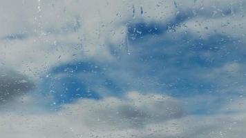 3D rendering Raindrops on the window photo
