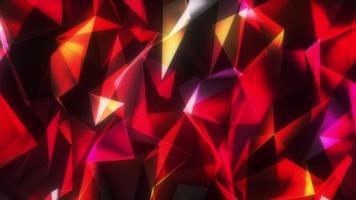 resplandor rojo estructura de conexión de malla 3d en movimiento video