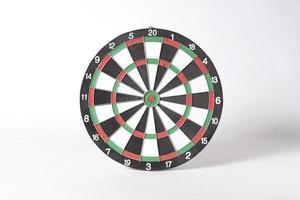 target dart board on gray background. photo