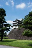 View or the beautiful Imperial Palace in Tokyo. Sunny day, no people, Japan. photo