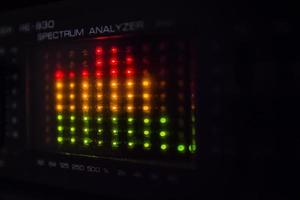 Graphic equalizer bars on an audio system photo