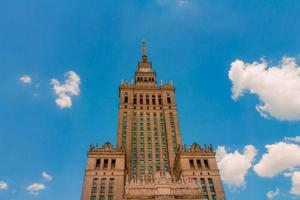 The Palace of Culture and Science of Warsaw from a low angle view photo