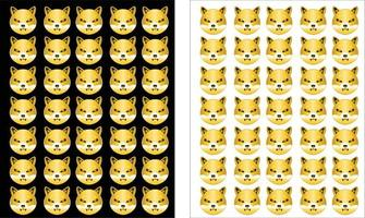Shiba inu coin crypto currency seamless pattern vector