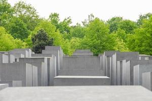Monumento conmemorativo del holocausto judío en la ciudad de Berlín. foto