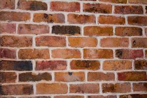 Red brick with an orange tint texture photo