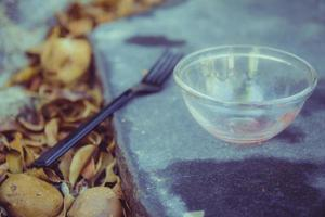 Meal in the garden photo