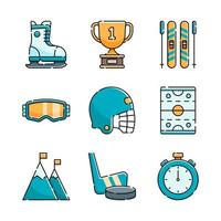 Winter Olympic Sport Icon Set vector