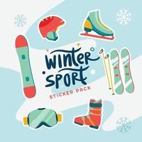 Winter Sport Sticker Pack vector