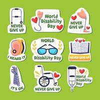 various aids for persons with disabilities vector