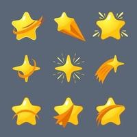 Adorable collection of shooting stars from all directions vector
