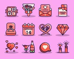 Valentines Day Icon Collections vector