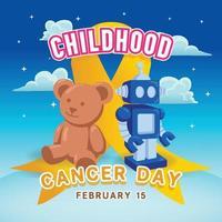 Childhood Cancer Day Illustration - REV4 vector