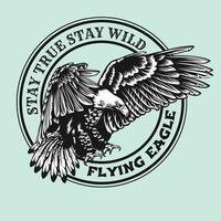 eagle and skull artwork vector illustration