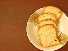 Bread on wooden background video