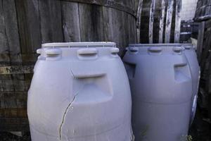 Abandoned Plastic Barrels photo