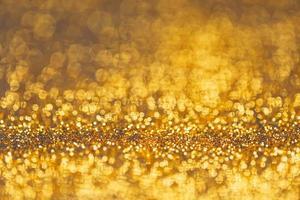 Golden glitter bokeh elegant photo