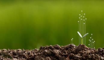 concepto de rsc y plantación de negocios foto
