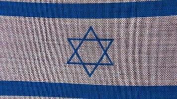 Israel flag on background video