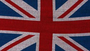Great britain flag on background video