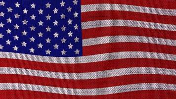 United states flag on background video