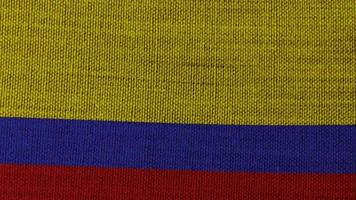 Colombia flag on background video