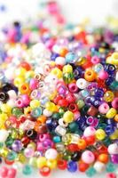 Colorful beads background photo