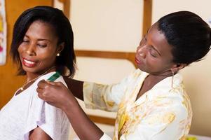 seamstress taking action. photo