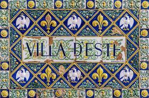 TIVOLI, ITALY, SEPTEMBER 23, 2018 - Villa d'Este interior at Tivoli, Italy. This 16th century villa in Tivoli is listed as a UNESCO world heritage site. photo