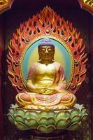 Singapur, 6 de agosto de 2014 - Detalle del templo de la reliquia del diente de Buda en Singapur. El templo se basa en el estilo arquitectónico de la dinastía Tang y se estableció en 2002. foto