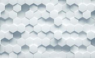 White geometrical background structure top view. 3d Render photo