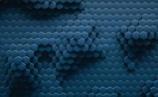 3D Illustration. Geometric hexagonal abstract background. photo