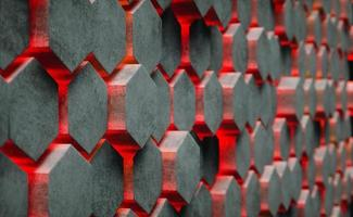 3D Illustration. Hexagonal abstract background. photo