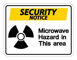 Security notice Microwave Hazard Sign on white background vector